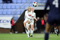 CHAPEL HILL, NC - NOVEMBER 16: MacKenzie Firek #12 of Belmont University kicks the ball during a game between Belmont and North Carolina at UNC Soccer and Lacrosse Stadium on November 16, 2019 in Chapel Hill, North Carolina.