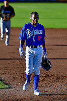 Errol Robinson (9) of the Ogden Raptors during the game against the Missoula Osprey in Pioneer League action at Lindquist Field on July 14, 2016 in Ogden, Utah. Ogden defeated Missoula 10-4. (Stephen Smith/Four Seam Images)
