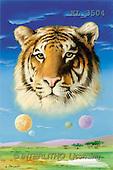 Interlitho, Luis, FANTASY, paintings, tiger's head, KL, KL3504,#fantasy# illustrations, pinturas