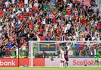 AUSTIN, TX - JULY 29: The USA Supporters Group during a game between Qatar and USMNT at Q2 Stadium on July 29, 2021 in Austin, Texas.