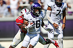 TCU Horned Frogs running back Kenedy Snell (16) in action during the game between the SMU Mustangs and the TCU Horned Frogs at the Amon G. Carter Stadium in Fort Worth, Texas.