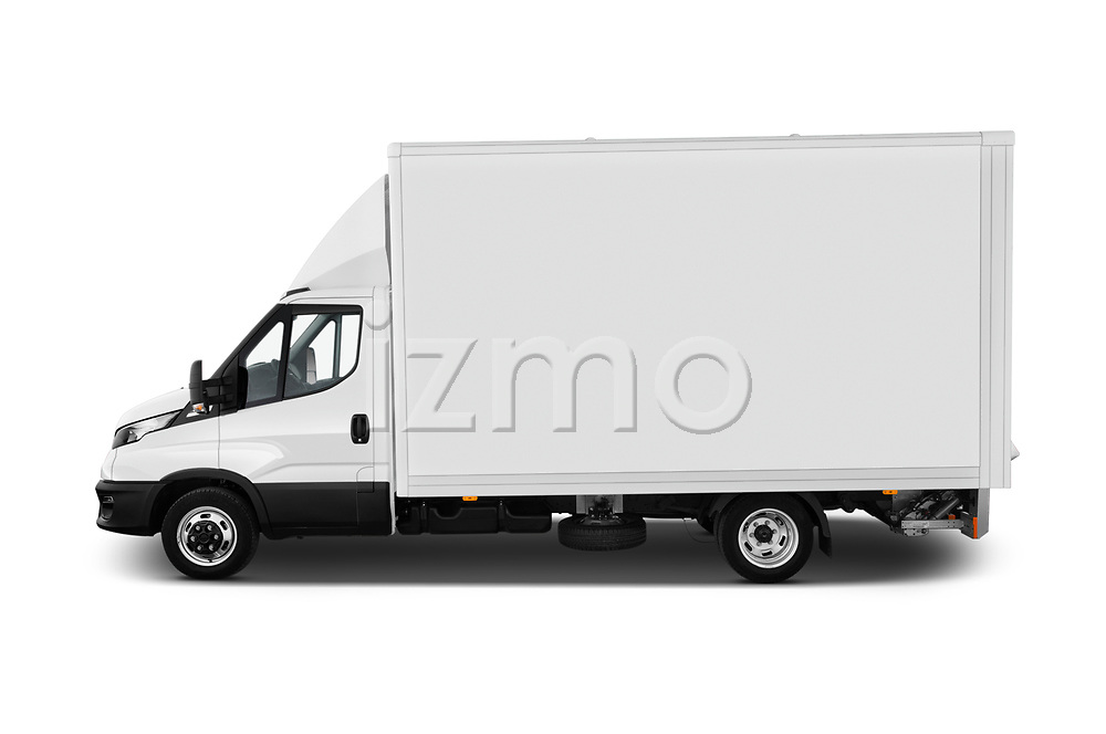 Car Driver side profile view of a 2020 Iveco Daily C 2 Door Van Box Side View