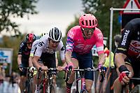 Sep Vanmarcke (BEL/EF) up the Oude Kwaremont<br /> <br /> 104th Ronde van Vlaanderen 2020 (1.UWT)<br /> 1 day race from Antwerpen to Oudenaarde (BEL/243km) <br /> <br /> ©kramon