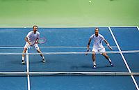 Switserland, Genève, September 19, 2015, Tennis,   Davis Cup, Switserland-Netherlands, Doubles: Dutch team Matwe Middelkoop/Thiemo de Bakker (R)<br /> Photo: Tennisimages/Henk Koster