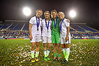 Boca Raton, FL. - March 9, 2016: The U.S. Women's National team take a 2-1 lead over Germany in second half action during  the 2016 SheBelieves Cup at FAU Stadium.