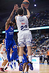 Real Madrid's Sergio Llull and Anadolu Efes's Brandon Paul during Turkish Airlines Euroleague match between Real Madrid and Anadolu Efes at Wizink Center in Madrid, April 07, 2017. Spain.<br /> (ALTERPHOTOS/BorjaB.Hojas)