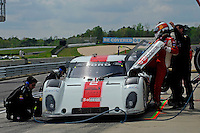 #2 Starworks Motorsport BMW/Riley of Lucas Luhr & Alex Popow makes a pit stop. class: Daytona Prototype (DP)