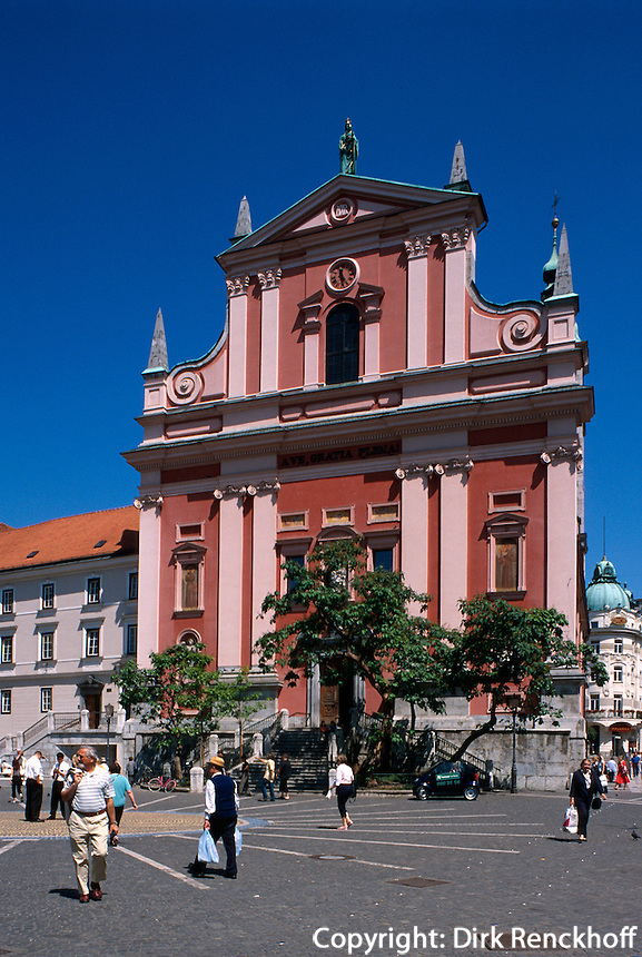 Ljubljana, Franziskanerirche, Slowenien.