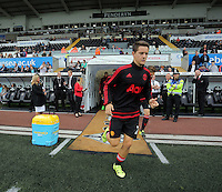 Pictured: Ander Herrera of Manchester United Sunday 30 August 2015<br /> Re: Premier League, Swansea v Manchester United at the Liberty Stadium, Swansea, UK