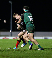 27th December 2020 | Connacht  vs Ulster <br /> <br /> Craig Gilroy is tackled by Tom Daly during the Guinness PRO14 match between Connacht and Ulster at The Sportsground in Galway.  Photo by John Dickson/Dicksondigital