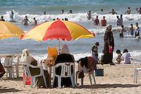 Tripoli, Libya. Beach Scene, Mediterranean.
