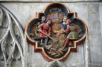Gothic medieval sculpture from the Cathedral of Notre-Dame, Amiens, France