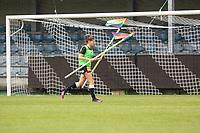 Bente Verspeelt (13) of Eendracht Aalst pictured during a female soccer game between Eendracht Aalst and KRC Genk on the third matchday of the 2021 - 2022 season of Belgian Scooore Womens Super League , Saturday 4 September 2021  in Aalst , Belgium . PHOTO SPORTPIX    KRISTOF DE MOOR