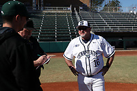 CARY, NC - FEBRUARY 23: Head coach Rob Cooper of Penn State University during a game between Wagner and Penn State at Coleman Field at USA Baseball National Training Complex on February 23, 2020 in Cary, North Carolina.