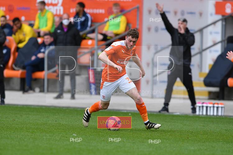 09/05/2021 Sky Bet League 1 Blackpool v Bristol Rovers  <br /> <br /> Elliot Embleton in action for Blackpool