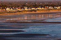 Europe/France/Normandie/Basse-Normandie/50/Manche/Barneville-Carteret: Lumière du soir sur Barneville-Plage :: / Europe/France/Normandie/Basse-Normandie/50/Manche/Barneville-Carteret:  Beach and  Barneville-Plage