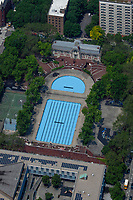 aerial photograph Hamilton Fish Recreation Center and Park, squash court and library, Manhattan, New York City