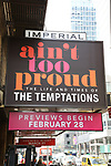 """""""Ain't Too Proud - The Life and Times of The Temptations""""  - Theatre Marquee"""
