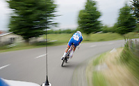 Bjorn Leukemans (BEL/Wanty-Groupe Gobert) in action as seen by the teamcar<br /> <br /> stage 1: prologue<br /> Ster ZLM Tour 2015