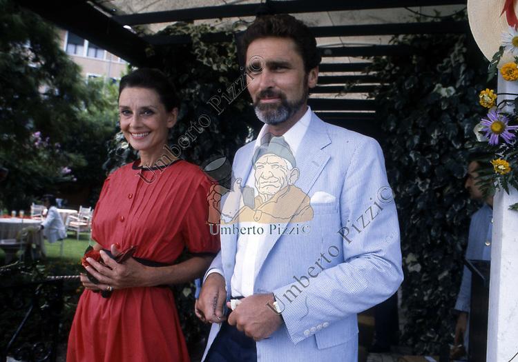 AUDREY HEPBURN CON ROBERT WOLDERS<br /> VENEZIA 1984