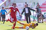 Australia Head Coach Graham Arnold reacts during the AFC Asian Cup UAE 2019 Group B match between Palestine (PLE) and Australia (AUS) at Rashid Stadium on 11 January 2019 in Dubai, United Arab Emirates. Photo by Marcio Rodrigo Machado / Power Sport Images