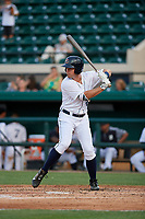 Lakeland Flying Tigers Cole Peterson (9) during a Florida State League game against the St. Lucie Mets on April 24, 2019 at Publix Field at Joker Marchant Stadium in Lakeland, Florida.  Lakeland defeated St. Lucie 10-4.  (Mike Janes/Four Seam Images)