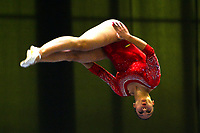 BARRANQUILLA - COLOMBIA, 02-08-2018: Katish Hernandez (Colombia) durante  su presentación en la categoría ginmasia trampolín femenino individual como parte de los Juegos Centroamericanos y del Caribe Barranquilla 2018. /  Katish Hernandez (Colombia) during her participation in women's trampoline gymnastics individual category as part of the Central American and Caribbean Sports Games Barranquilla 2018. Photo: VizzorImage / Alfonso Cervantes / Cont
