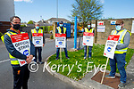 Members of the IWU at their official protest at the ESB Tralee on Thursday. Front left: Dermot Buckley. Back l to r: Kevin Savage, Damien Holly, Brendan Walsh and Dermot Carmody.