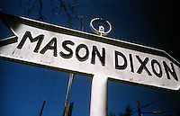 Mason and Dixon Line. State line of Maryland and Pennsylvania.