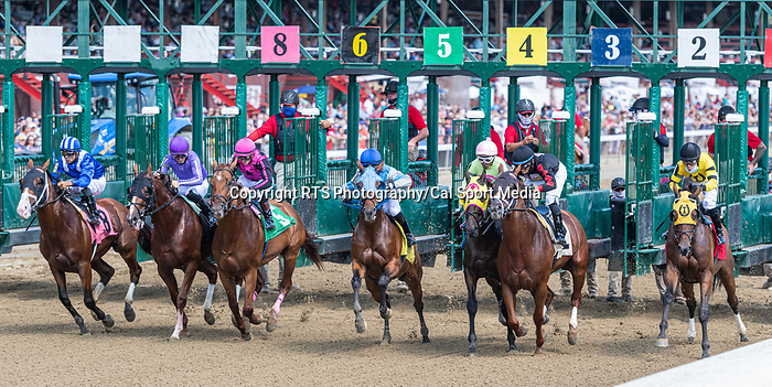 09042021:The start of the 2nd race on The JOCKEY GOLD CUP day at Saratoga<br /> Robert Simmons/Eclipse Sportswire