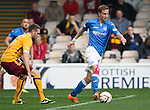 Motherwell v St Johnstone...30.08.14  SPFL<br /> Steven MacLean is closed down by Stephen McManus<br /> Picture by Graeme Hart.<br /> Copyright Perthshire Picture Agency<br /> Tel: 01738 623350  Mobile: 07990 594431