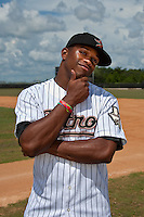 Delino DeShields, Jr. of the Gulf Coast League Astros before the game at Osceola County Stadium in Kissimmeea, Florida August 7 2010. Den Dekker was the New York Mets 1st round pick (8th overall) of the 2010 MLB Draft. Photo By Scott Jontes/Four Seam Images