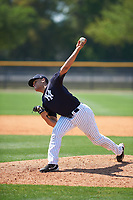 New York Yankees pitcher Tony Hernandez (19) delivers a pitch during a minor league Spring Training game against the Detroit Tigers on March 22, 2017 at the Yankees Complex in Tampa, Florida.  (Mike Janes/Four Seam Images)