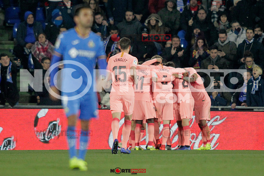 FC Barcelona's players celebrate goal during La Liga match. January 6,2019. (ALTERPHOTOS/Acero) /NortePhoto.com