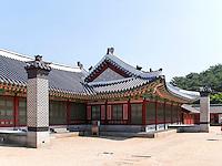 Hwaseong Haenggung Palast in  der Festung-Hwaseong von Suwon, Provinz Gyeonggi-do, Südkorea, Asien, Unesco-Weltkultueerbe<br /> Hwaseong Haenggung palace in  fortress Hwaseong, Suwon, Province Gyeonggi-do, South Korea Asia, UNESCO World-heritage