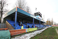 General view of the main stand during Braintree Town vs Tranmere Rovers, Vanarama National League Football at the IronmongeryDirect Stadium on 19th November 2016