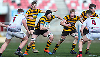 Tuesday 3rd March 2020 | RSA vs RBAI<br /> <br /> RBAI second row Alex Weir on the attack during the Ulster Schools' Cup Semi-Final between Royal School Armagh and RBAI at Kingspan Stadium, Ravenhill Park, Belfast, Northern Ireland. Photo by John Dickson / DICKSONDIGITAL