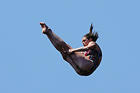 12th June 2021, Saint-Raphaël, Provence-Alpes-Côte d'Azur, France; Red Bull Cliff Diving competition;  Yana NESTSIARAVA (Bel)