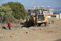 Pictured: Forensic archaeologists assisted by a digger, work at the second site in Kos, Greece. Thursday 13 October 2016<br />Re: Police teams led by South Yorkshire Police are searching for missing toddler Ben Needham on the Greek island of Kos.<br />Ben, from Sheffield, was 21 months old when he disappeared on 24 July 1991 during a family holiday.<br />Digging has begun at a new site after a fresh line of inquiry suggested he could have been crushed by a digger.