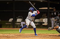 AZL Dodgers Lasorda Edwin Mateo (54) at bat during an Arizona League game against the AZL White Sox at Camelback Ranch on June 18, 2019 in Glendale, Arizona. AZL Dodgers Lasorda defeated AZL White Sox 7-3. (Zachary Lucy/Four Seam Images)