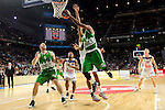 Real Madrid's player Dontaye Draper and Unics Kazan's player Artsiom Parakhouski and Keith Langford during match of Turkish Airlines Euroleague at Barclaycard Center in Madrid. November 24, Spain. 2016. (ALTERPHOTOS/BorjaB.Hojas)