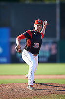 Batavia Muckdogs relief pitcher Trenton Hill (39) during the second game of a doubleheader against the Auburn Doubledays on September 4, 2016 at Dwyer Stadium in Batavia, New York.  Batavia defeated Auburn 6-5. (Mike Janes/Four Seam Images)