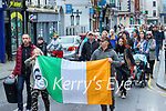 Lockdown protest in Tralee on Saint Patrick's day.
