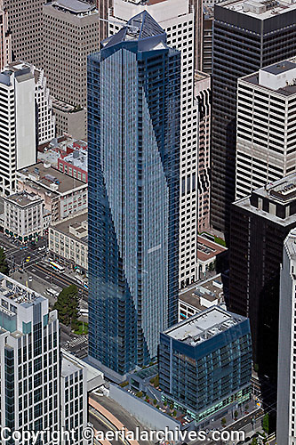 aerial photograph Millenium Tower San Francisco financial district