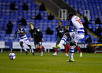 10th February 2021; Madejski Stadium, Reading, Berkshire, England; English Football League Championship Football, Reading versus Brentford; Lucas Joao of Reading shoots and scores his sides 1st goal in the 25th minute to make it 1-0 from a penalty kick