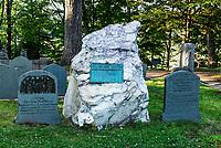 Grave site of Ralph Waldo Emerson, Sleepy Hollow Cemetery, Concord, Massachusetts, USA