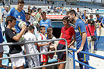 Getafe's new player Alvaro Medran with the fans during his official presentation. July 6, 2015. (ALTERPHOTOS/Acero)