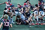 Linsay Varty of Hong Kong (c) competes against Japan during the Womens Rugby World Cup 2017 Qualifier match between Hong Kong and Japan on December 17, 2016 in Hong Kong, Hong Kong. Photo by Marcio Rodrigo Machado / Power Sport Images
