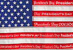 American flag with text 'President's Day'
