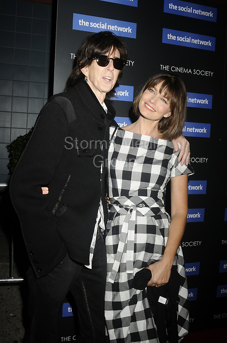 NEW YORK - SEPTEMBER 29:  Paulina Porizkova attends Columbia Pictures' and The Cinema Society's screening of 'The Social Network' at the School of Visual Arts Theater on September 29, 2010 in New York City.  <br /> <br /> People:  Ric Ocasek Paulina Porizkova